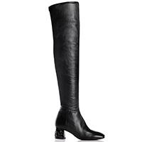 Кожаные ботфорты Fiorangelo с квадратным носком, фото