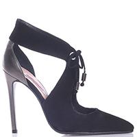 Замшевые туфли Spaziomoda Bologna на шпильке с острым носком, фото