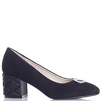 Замшевые черные туфли Ilasio Renzoni с закругленным носком, фото
