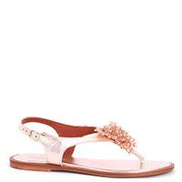 Золотистые сандалии Cantini&Cantini с декором на носке, фото