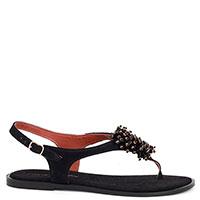 Черные сандалии Cantini&Cantini с декором, фото