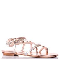 Высокие сандалии Eddicuomo золотистого цвета, фото