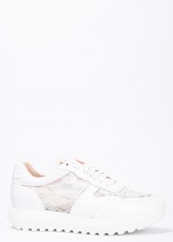 Белые кроссовки Stokton с кружевными вставками, фото
