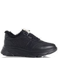 Черные кроссовки Stokton с кружевными вставками, фото