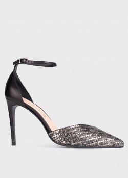 Открытые туфли Chantal с серебристым носком, фото