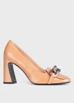 Бежевые туфли Chantal с декором, фото