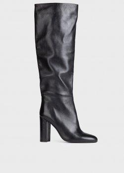 Черные сапоги Chantal на высоком каблуке, фото