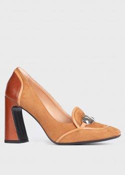 Коричневые туфли Chantal с квадратными носками, фото