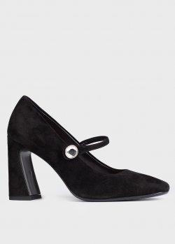 Черные туфли Chantal из замши с ремешком, фото