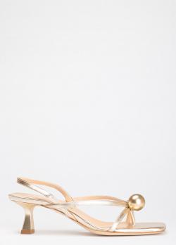Золотистые босоножки Chantal из ремешков, фото