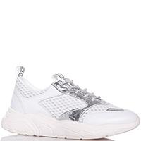 Кроссовки белые Stokton с серебристыми вставками, фото