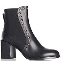 Черные ботинки Angelo Bervicato с декором-шипами, фото