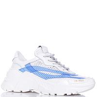 Белые кроссовки Stokton с голубыми вставками, фото