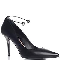 Черные туфли Chantal с металлическим декором, фото