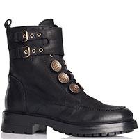 Черные ботинки Strategia на шнуровке и пряжках, фото