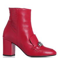 Красные ботильоны Chantal на устойчивом каблуке, фото