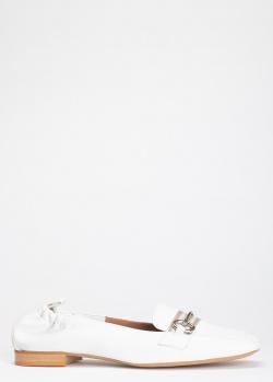 Белые лоферы Enzo Di Martino с квадратным носком, фото