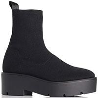 Черные ботинки-чулки Strategia на платформе, фото
