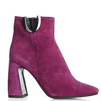Ботильоны Chantal фиолетового цвета на высоком каблуке, фото