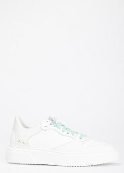 Кроссовки Stokton из белой кожи, фото
