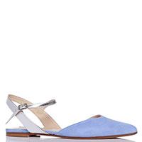 Замшевые сандалии Fabio Rusconi голубого цвета, фото