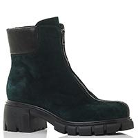 Зеленые ботинки Fru.It с молнией спереди, фото