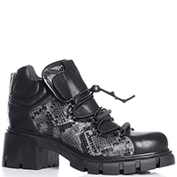 Черные ботинки Fru.It Now со змеиным принтом, фото