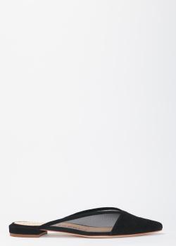Черные мюли Fabio Rusconi с полупрозрачными вставками, фото