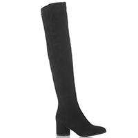 Черные ботфорты The Seller с закругленным носком, фото