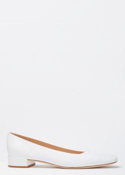 Белые балетки Fabio Rusconi с квадратными носками, фото