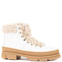 Утепленные ботинки Stokton из белой кожи, фото