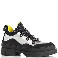 Серебристо-черные ботинки Stokton на толстой подошве, фото