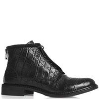 Черные ботинки Mally с тиснением кроко, фото