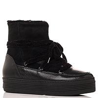 Черные ботинки Mally на толстой подошве, фото