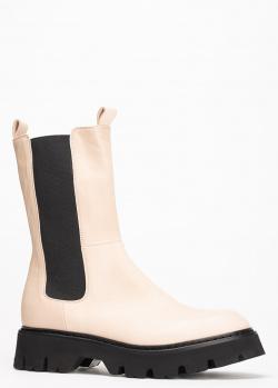 Бежевые ботинки Fru.It с резинкой по бокам, фото