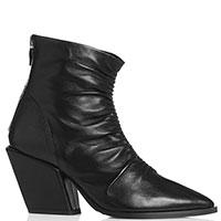 Казаки Mally в черном цвете на устойчивом каблуке, фото