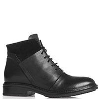 Ботинки Mally в черном цвете на низком каблуке, фото