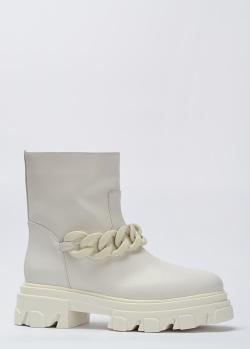 Кожаные ботинки Stokton с натуральным мехом, фото