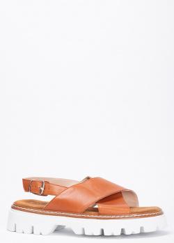 Коричневые сандалии Fru.It на массивной подошве, фото