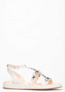 Сетло-серые сандалии Fru.It с заклепками, фото