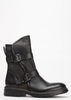 Черные ботинки Fru.It с перфорацией, фото