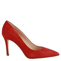 Туфли-лодочки Chantal из красной замши, фото