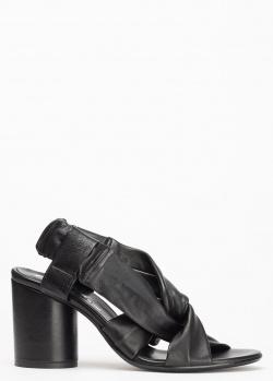 Черные босоножки Fru.It из жатой кожи, фото