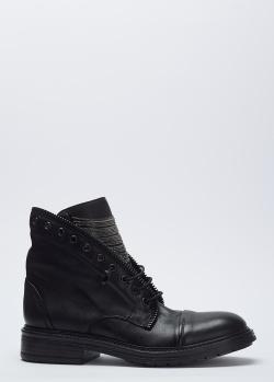 Черные ботинки Fru.It с цепочками на языке, фото