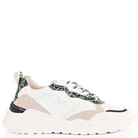 Белые кроссовки Meline с леопардовыми вставками, фото
