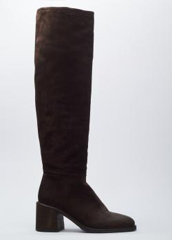 Замшевые ботфорты Fru.It коричневого цвета, фото