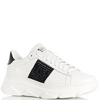 Белые кроссовки Stokton с декором из страз, фото