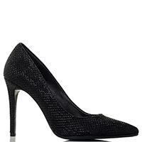 Черные туфли-лодочки Chantal на высоком каблуке, фото