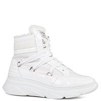 Белые ботинки Stokton с лаковыми вставками, фото
