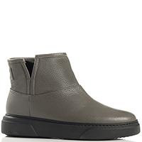 Женские ботинки Stokton из кожи серого цвета, фото